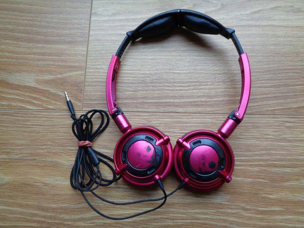 Słuchawki Skullcandy Lowrider z mikrofonem, kolor wiśniowy