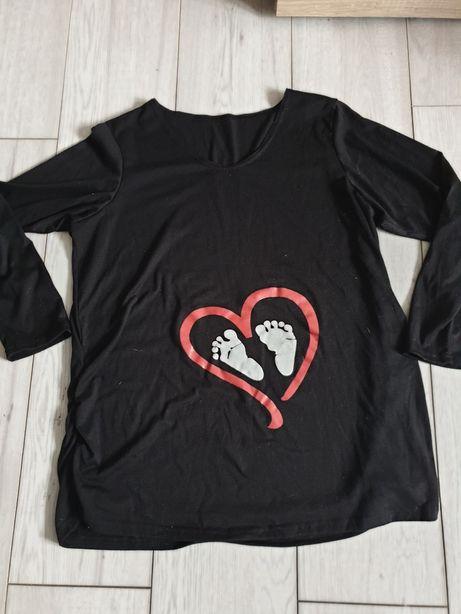 Koszulka bluza dla ciężarnej. Ciążowa koszulka