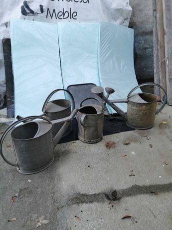 Konewka metalowa +  tara do prania - stare oryginalne 5 sztuk