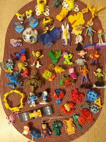 Zabawki z Kinder niespodzianki, 46 sztuk, zamienię na czekoladę