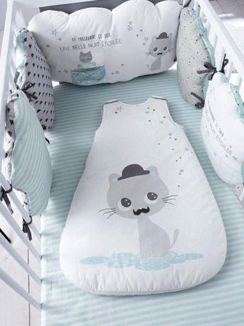 Защитный бампер для кроватки, постельное белье Verbaudet