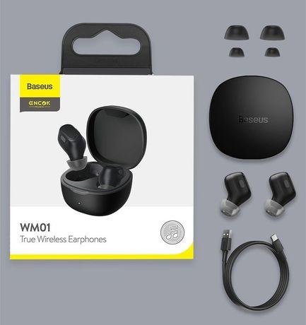 Baseus WM01 PLUS TWS Wireless Bluetooth Earphones - Branco -24h