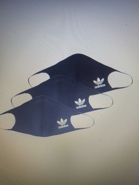 Zestaw 3 szt. Maseczka Adidas czarne R.m/l