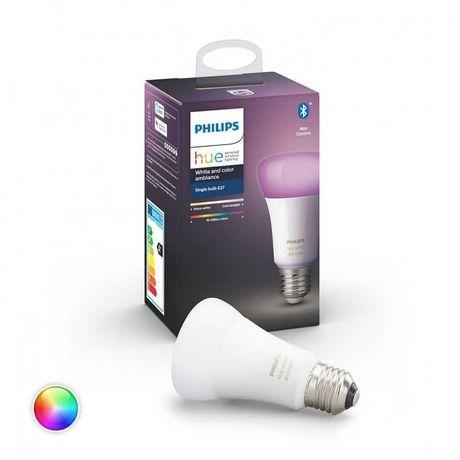 Lâmpada Inteligente PHILIPS HUE (E27 - Branco e cor)