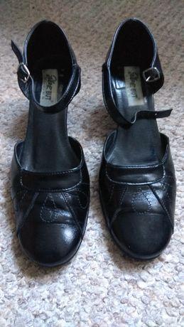 Czarne buty wizytowe, rozmiar 37
