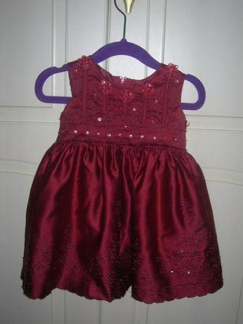 elegancka sukienka niemowlęca rozm 62/68