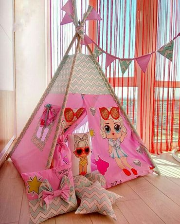 Дитячий будиночок, вігвам, типпи, шалаш, детский игровой домик, вигвам