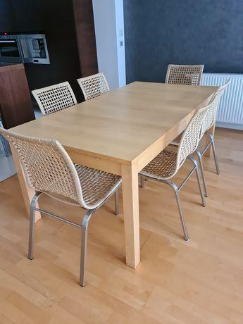 Komplet stół rozkladany + 6 krzeseł IKEA