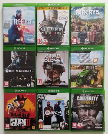 Gry Xbox one Call of duty Wiedźmin UFC Farming Mortal Red Dead