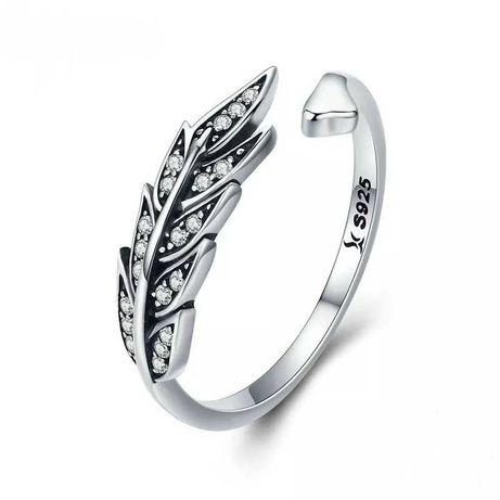 Pierścionek srebrny 925 Pióro 3D na prezent do Pandora Apart