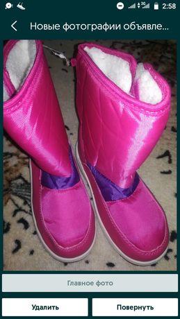 Новые сапоги, сапожки, ботинки для девочки 31,32 рр.