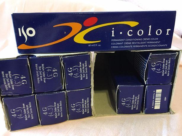 Краска для волос ISO i-Color - 4G (4.3) (КРАСИТ В ЧЕРНЫЙ)