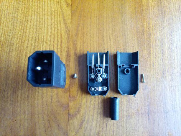 Штекер сетевой 3 pin разборной под винт (компьютер блок питания ИБП)