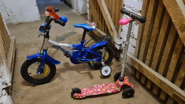 Rower i hulajnoga dziecięce