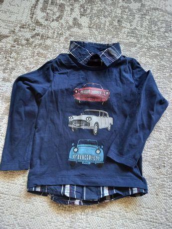 Bluzka koszula długi rękaw chłopięca 104 samochody