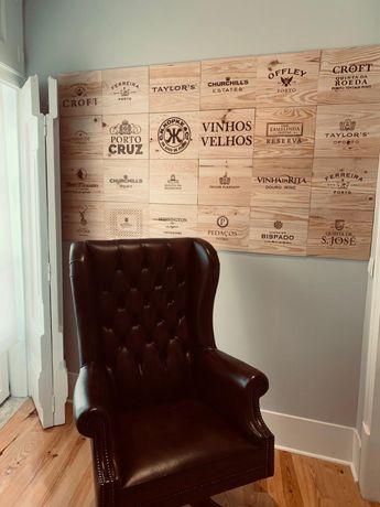 Tampos - placas - Caixas de vinhos em Madeira vintage!