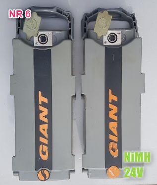 Giant baterie do roweru 2 szt + ładowarka