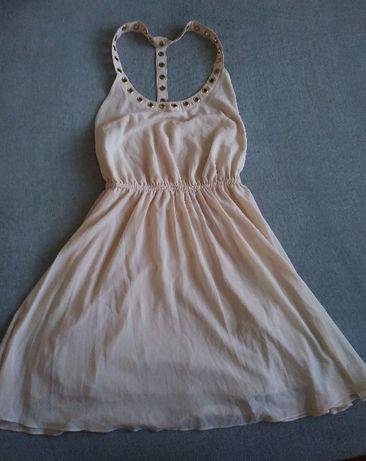 Nowa Sukienka pudrowy róż Tally Weijl S z metką