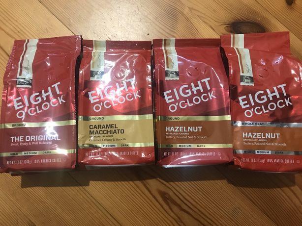 Зерновой молотый кофе Eight O'clock USA, кава зернова мелена США