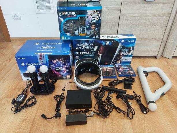 Mega zestaw PlayStation vr ver.2  PS5  AIM Controler wieloma dodatkami
