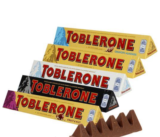 Шоколад Тоблерон Toblerone Dark/Milk/White/Fruit&Nuт 100гр