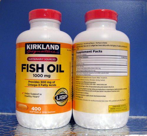 БАД Рыбий жир, Омега 3, Fish Oil,Kirkland Signature Риб'ячий жир