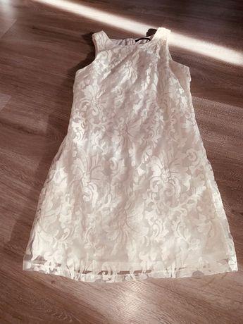 Biała sukienka Mohito rozm.36