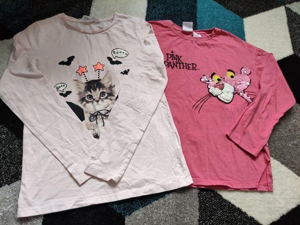 Bluzki dla dziewczynki  Zara, h&m 134/140