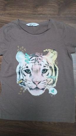 H&M koszulka z krótkim rękawem w rozmiarze 134/140