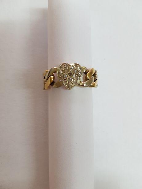 Pierścionek złoty p.750. Miękka obrączka. Roz. 19.