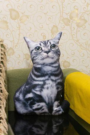 3D подушка в виде серого кота