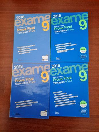 Manuais de preparação para o exame de 9°ano