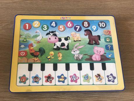 Музыкальный обучающий планшет, пианино, звуки животных.