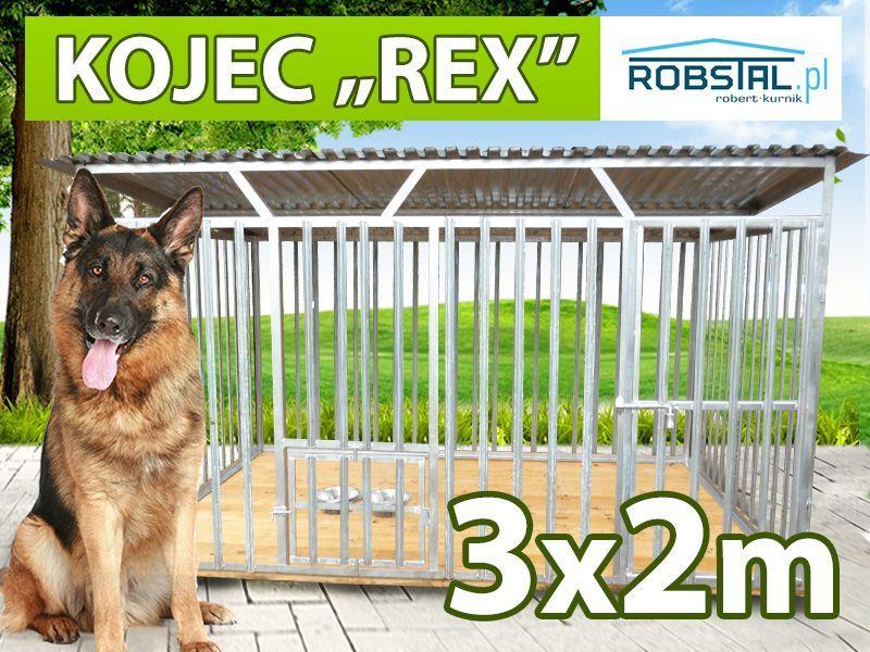 SOLIDNY I TANI kojec dla psa 3x2 REX konstrukcja ocynkowana producent
