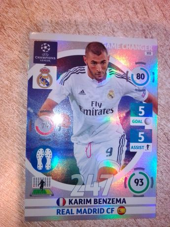 Karta game changer chamoions league 2014 Benzema 2015 Panini