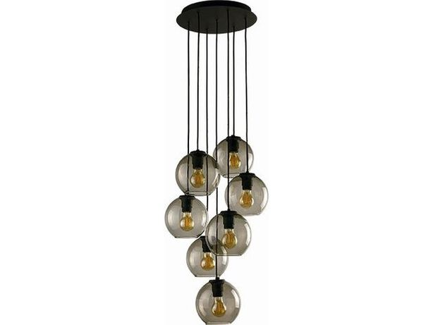 Elegancka klasyczna czarna szklana lampa wisząc NOWODVORSKI VETRO 9131