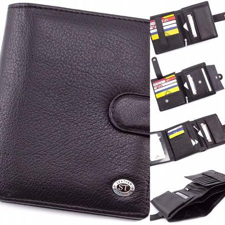 Мужской вертикальный кошелек под много карточек ST Leather из Турция.