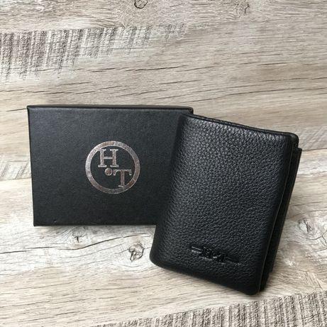 Мужской кожаный кошелек H.T. Leather Чоловічий гаманець шкіряний