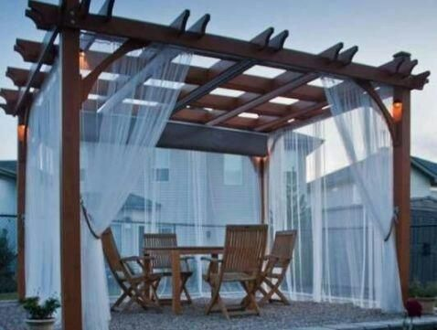 Firany zasłony tarasowe na altanki domki ogrodowe lekkie zwiewne