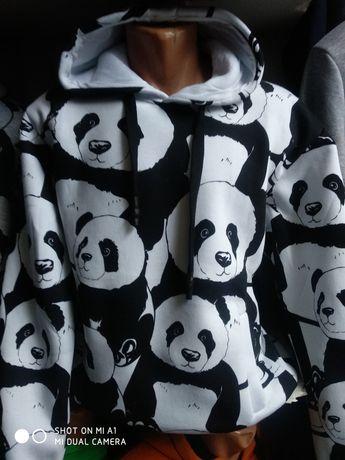 Худи панда белая