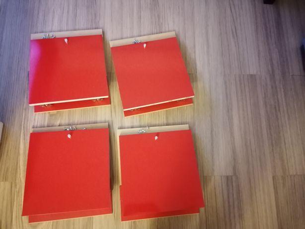 Portas para armário Lacadas a vermelho