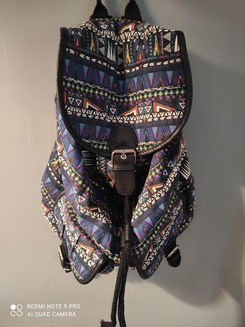 Vintage plecak materiałowy