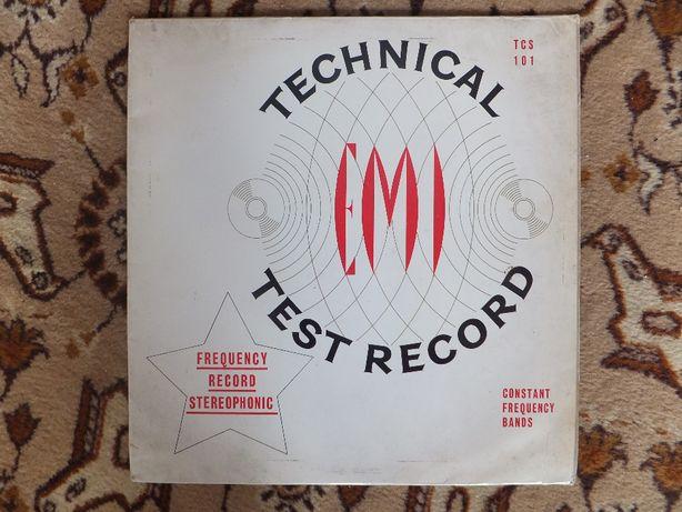 Płyta winylowa EMI Technical Test Record