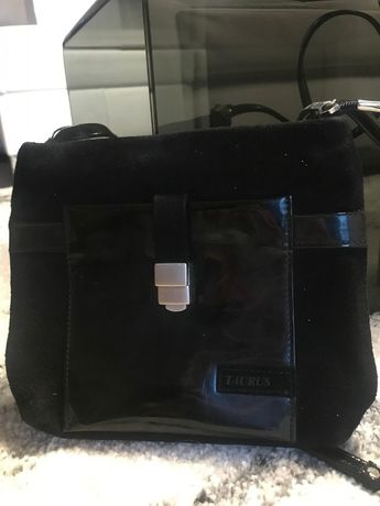 Czarna mała torebka skórzana, skóra naturalna, elegancka