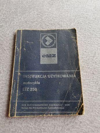Instrukcja użytkowania ETZ 250