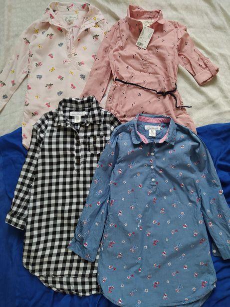 Платье рубашка плаття сорочка  h&m 4-8 лет