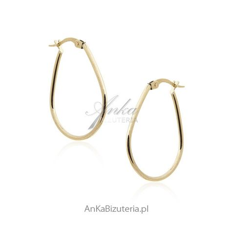 ankabizuteria.pl Kolczyki złote pr. 0,585 Klasyczna biżuteria złota