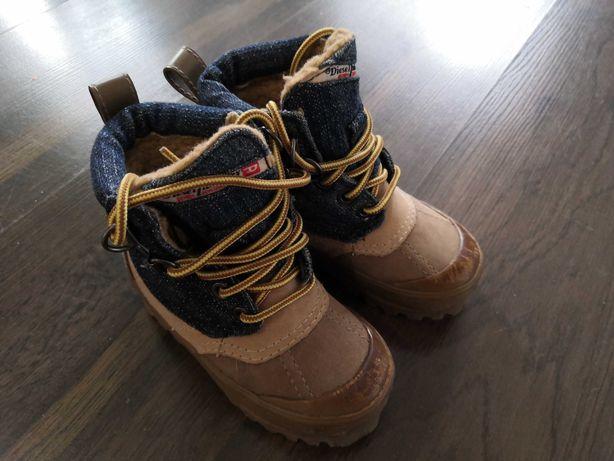 Детские ботинки сапоги Дизель Diesel кожаные на меху 21 р 13 см