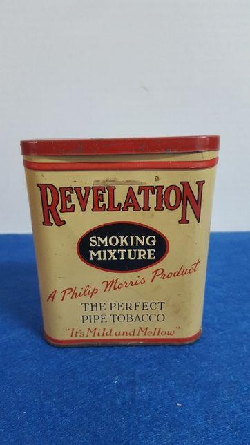 Antiga caixa metalica , da marca Revelation by Pillhips Morris