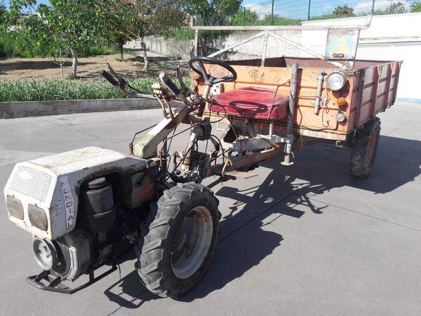 Motocultivador Mundial com reboque